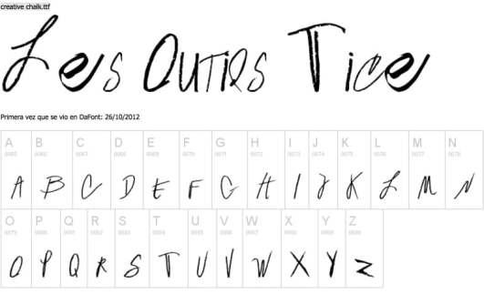 10 typographies gratuites pour une  u00e9criture  u00e0 la craie