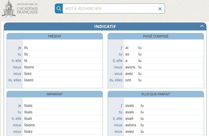 dictionnaire conjugaison