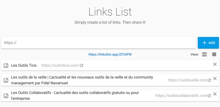 links list