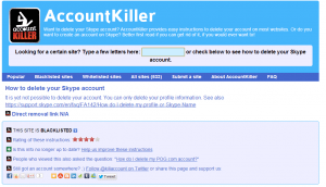 Exemple AccountKiller