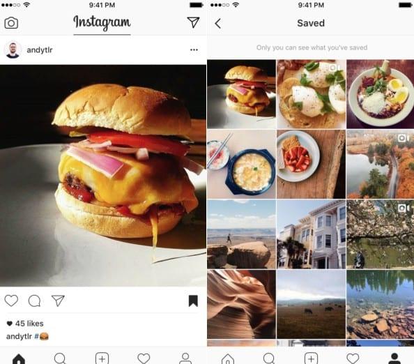 Instagram saved posts