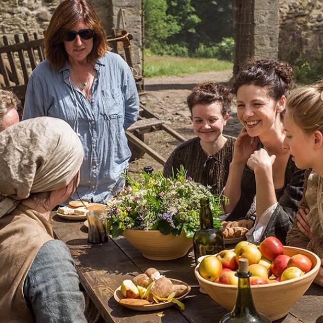 When the sun shines in Scotland, everyone's happy! #Outlander #BehindTheScenes