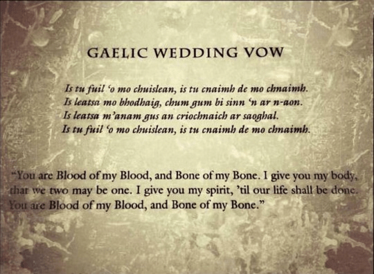 Gaelis Wedding vow
