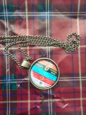 Pendant inspired by Outlander book series.Diana Gabaldon Books,Book Pendant with an antique chain
