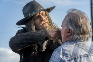 Graham McTavish as The Saint of Killers, Rutherford Cravens as Store Owner - Preacher _ Season 2, Episode 1 - Photo Credit: Skip Bolen/AMC/Sony Pictures Television