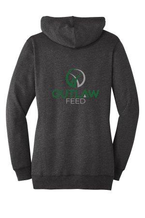 Outlaw Feed Women's Lightweight Hoodie Back