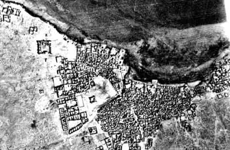 1947, Aerial, photograph, Doha, Qatar, UCL Qatar