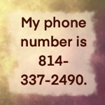 My phone number is 814-337-2490.