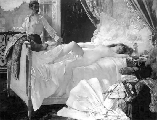 Painting by Henri Gervex (1852 - 1929)