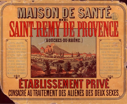 Advertisement for The psychiatric hospital Saint-Paul-de-Mausole at Saint-Rémy-de-Provence