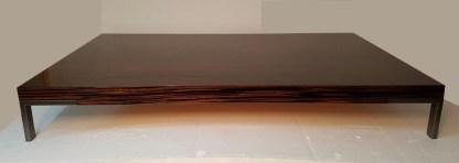 Tavolino Romeo di Emaf Progetti per Zanotta Ebano Lucido 92x154x22 Struttura verniciata Grafite