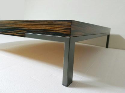 Tavolino Romeo di Emaf Progetti per Zanotta Ebano Opaco 92x92x22