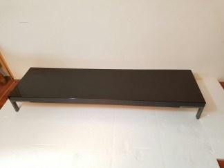 Tavolino Romeo di Emaf Progetti per Zanotta Nero Lucido 50x180x22