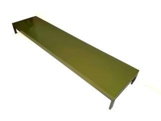 Tavolino Romeo di Emaf Progetti per Zanotta Verde Lucido 50x220x22