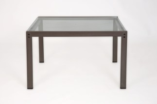 Tavolino Sanzeno di Emaf Progetti per Zanotta Grafite e Cristallo 52x55x32