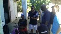 Preaching in Los Cocos.