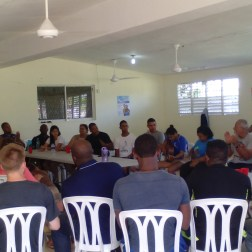 Sharing with other young Dominican missionaries, the Missionary Youth Project in La Colonia.