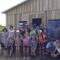Volunteers who worked in construction.