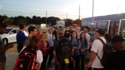 Arrival of the missionaries to the airport, day 1.