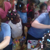 Bible class for children in Pedernales, day 4