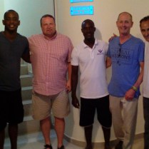 Pastor Ben Mayes and part of his mission team