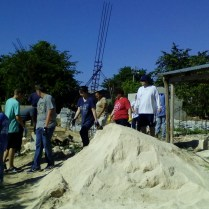 Construction work in the temple of La Colonia, day 6