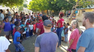 Ministry with children in Salina de Barahona