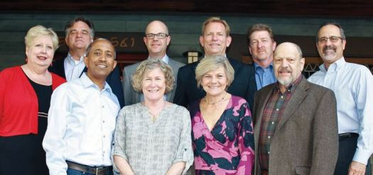 Photo courtesy Elizabeth House The Elizabeth House Board includes (front row, from left) Tsega Worku, Nancy Newhouse Porter, Debbie Unruh and George Van Alstine. Back: Terry Bright, Stan Rushing, Charles Taylor, David Poole, Dave Gallagher and Michael Cerrina.