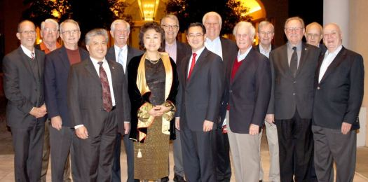 Photo courtesy Kristen Van Driel San Marino City Club past presidents include (from left) Pete Loeffler (2012), John Morris (2005), Bill Gunnell (2007), Frank Chen (2016), Dan Biles (2015), Janice Lee-McMahon (2011), Wally Rosvall (2003), David Wang (current), Mort Mortimer (2006), Tom Santley (2004), Dick Ward (1989), Al Boegh (2010), Fritz Seares (1999) and Ken Riley (1995).