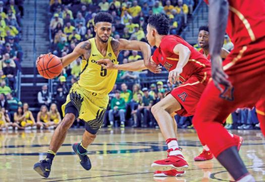 "Photo courtesy Eric Evans Pasadena native Tyler Dorsey, a former star at Maranatha High School, has been nicknamed ""Mr. March"" after leading the Oregon Ducks to their first Final Four appearance in 78 years following a 74-60 victory over No. 1-seeded Kansas."