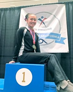 Caylee Kolb, a freshman at La Cañada High School, medaled in four events at the So-Cal State Championships, including a gold medal in the bars competition.