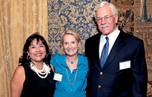 Outlook photo Pasadena Community Foundation President and CEO Jennifer DeVoll (center) is flanked by R-Lene Mijares de Lang and Dave Davis.