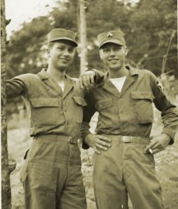 Photo courtesy Elshoff family La Cañada Flintridge resident Cal Elshoff (right) is a veteran of the Korean War, as was his brother, Kenneth.
