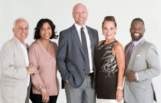 "Event Committee leads Anthony Guthmiller and Cheri Washington with Event Sponsors Drew Polenchar, Rusnak Maserati, Liz Rusnak Arizmendi, Rusnak Auto Group and Eszylfie Taylor of Taylor Insurance and Financial Services announce support for ""The Art of Conversation."""