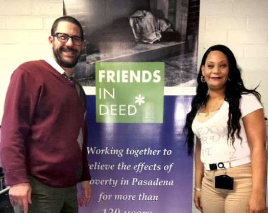Outlook photo Friends In Deed Director Rabbi Joshua Levine Grater and street outreach specialist Najwa Jones are taking a new approach to getting the homeless housed: Head to the streets to make connections.