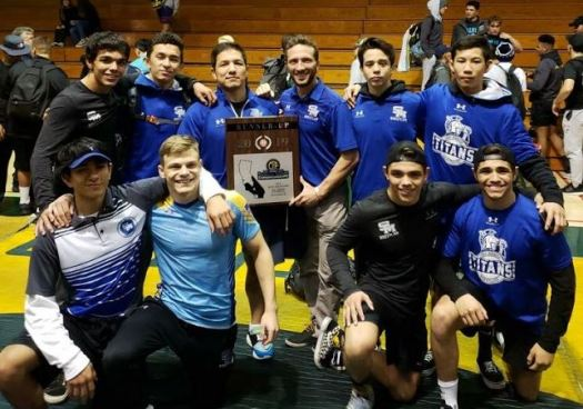 Photo courtesy San Marino Athletics The San Marino High School varsity boys' wrestling team placed second in the CIF Southern Section Southern Division Wrestling Championships last Saturday. Koa Ruiz, Luka Wick, Kurt Trumbull, Caleb Trumbull, Beau Perez, Raul Jimenez, Josh Trumbull and Devyn Che qualified for the Masters Meet.