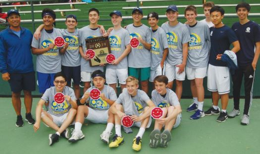 Flintridge Prep varsity boys' tennis team