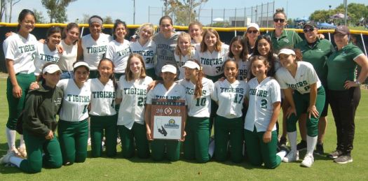 Westridge varsity softball team