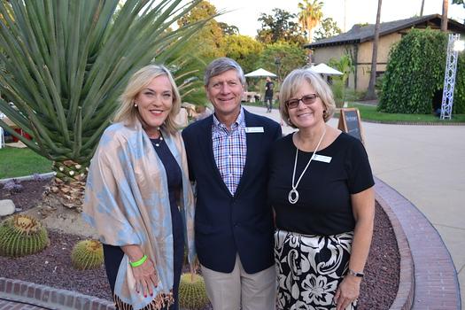 County Supervisor Kathryn Barger, board member Richard Fink and AbilityFirst CEO Lori Gangemi