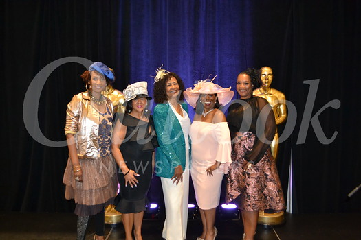 Fashion coordinator Grace Goodson-Witcher, fashion chair Char Bland, event co-chairs Joyce Sniffen and Ashana Thorman, and emcee Regina Robertson.
