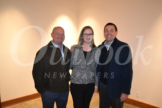 Event co-chairs Melissa and Dan Harper with Head of School John Finch