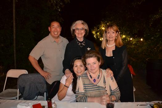 Jamie Inzunza (seated) and Kate Stamps. Back: Doug Yokomizo, Barbara Sinclair and Joan Aarestad.