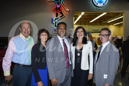 Aaron and Valerie Weiss, Dr. SriniVas Sadda, Marissa Goldberg and Matt Rabin