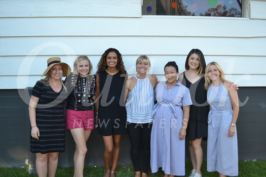 Circle of Friends Vice President Kate Kohorst, President Claire Marco, member events co-chair Neha Jespersen, Pumpkin Festival co-chair Eryn Kalavsky, member events co-chair Amy Lee, treasurer Judy Lin Young and Pumpkin Festival co-chair Brandi Mathisen