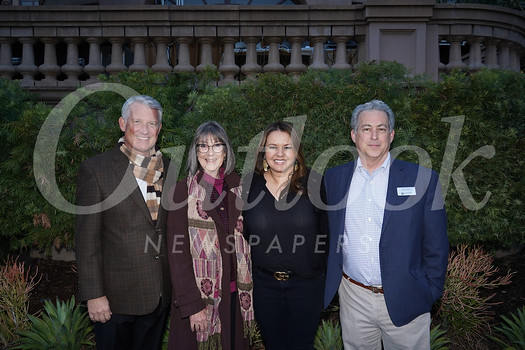 Langham Huntington Pasadena Director of Sales and Marketing Jim Caul, Pasadena Heritage Executive Director Sue Mossman, Langham Huntington Pasadena Director of Communications Susan Williger and Pasadena Heritage Board Chairman Brian Baker