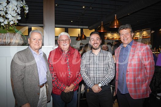 Jim Balla, CEO; Dr. Greg Bowman, board of directors past chair; Benjamin Bethoney; and Jimmy Christos, Foothill Restaurant owner.