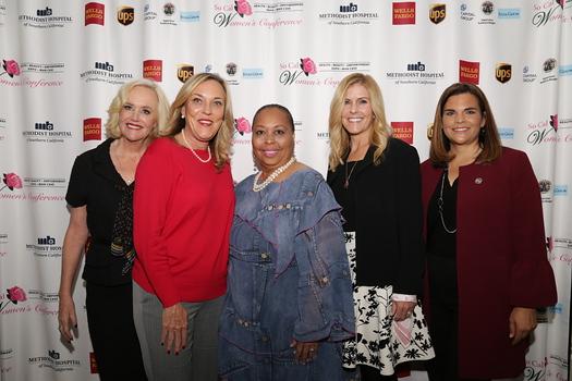 Sheila Grether-Marion, L.A. County Supervisor Kathryn Barger, conference CEO Lena Kennedy, Lisa Stevens and Alice Juarez