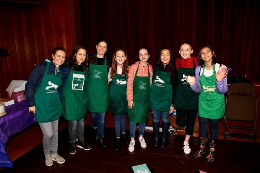 Westridge: Helen Munro-Uziel, Nomi Shichor, Gail Walpert, Noa Koepke, Eliza Walpert, Hannah La Porte, Clementine Lubin and Dahlia Vogel