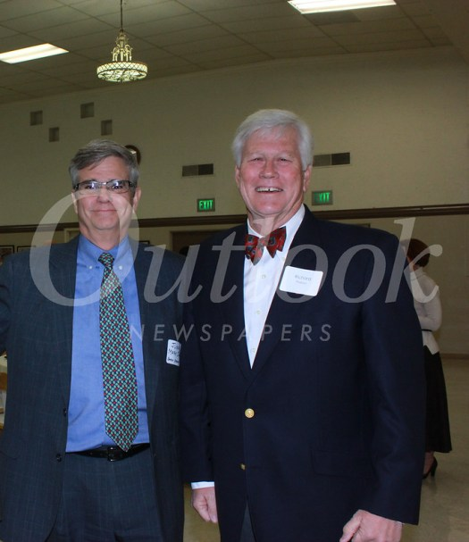 Guest speaker Judge Mark Juhas and San Marino City Club President Richard Pearson