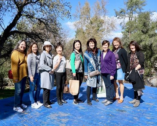 Marian Dundas, Karen Quon, April Jang, Amy Chang-Levack, Genevieve Tso, Patricia Tom Mar, Lisa Wong, Diana David and Mary Swanton